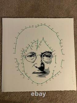 Connecting Lennon (Green) John Lennon The Beatles Art Print Mr. Brainwash MBW