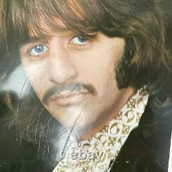 EXTREMELY RARE BEATLES John Lennon, Ringo, George Harrison Autographed Portraits