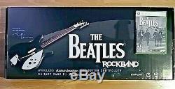 FACTORY SEALED XBOX 360 ROCK BAND the BEATLES SET BUNDLE + GUITAR JOHN LENNON