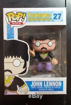 FUNKO POP THE BEATLES JOHN LENNON DAMAGED BOX With STACK