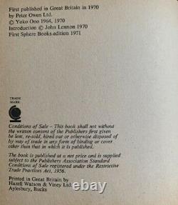 Fab Signed Grapefruit Book Autograph By John Lennon & Yoko Ono 1971 Beatles