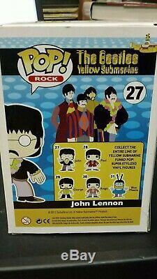 Funko Pop! Rock The Beatles John Lennon #27 Vaulted Rare