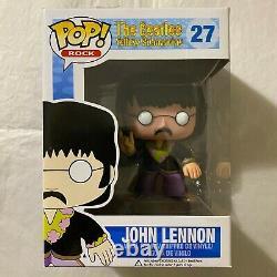 Funko Pop! The Beatles Yellow Submarine John Lennon #27! RARE RETIRED VAULTED