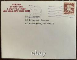 Great Yoko Ono Signed Christmas Card Sent From The Dakota John Lennon Beatles