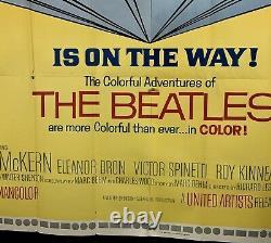 HELP Original Six Sheet Movie Poster (Fine+) 1965 John Lennon BEATLES Ringo 6SH