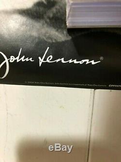 HUGE SUBWAY POSTER John Lennon beatles New York Classic Imagine Glasses Yoko O