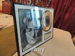 IMAGINE John Lennon Framed LIMITED EDITION NUMBERED Music LP Record Display