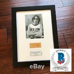 JOHN LENNON BAS Beckett LOA Autograph BED-IN Signature Signed The Beatles
