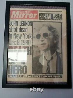 JOHN LENNON DEATH NEWSPAPER DAILY MIRROR 10TH DEC 1980 THE BEATLES. COLLECT Only