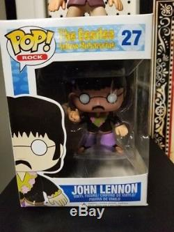 JOHN LENNON FUNKO POP ROCK THE BEATLES Vinyl Figure #27 NEW RARE VAULTED