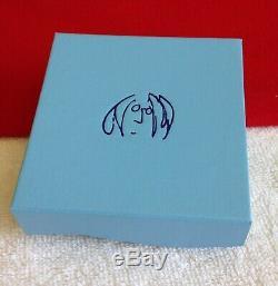 JOHN LENNON IMAGINE THE BEATLES Sterling Silver 925 SIGNED CUFF BRACELET IN BOX