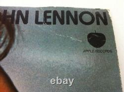 JOHN LENNON Imagine 1971 VERY RARE Canada Cardboard Promo Display Poster BEATLES