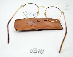 JOHN LENNON JL-02 THE DREAMER Frame Panto Gold Handmade Italy 47mm S NOS Beatles