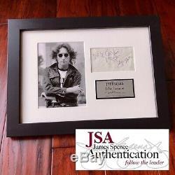 JOHN LENNON JSA LOA Autograph 1963 Envelope Signature Signed The Beatles