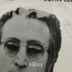 JOHN LENNON JSA LOA Autograph Mind Games LP Signed The Beatles