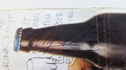 JOHN LENNON, PAUL McCARTNEY & RINGO STARR signed Stout brochure Beatles PSA/DNA