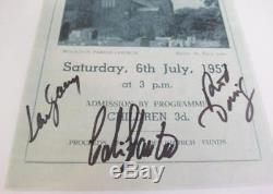 JOHN LENNON'S THE QUARRYMEN Signed Autograph Program By All 3 THE BEATLES