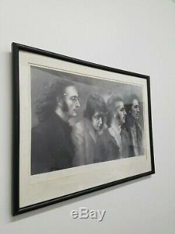 JOHN LENNON, THE BEATLES, BLACK AND WHITE LITHOGRAPH, C 1960s, APR $20K