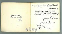 JOHN LENNON signed book with hand drawn sketch BEATLES JSA