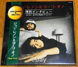 Japan 10 Clear Vinyl John Lennon & Yoko Ono Special Interview 1971 Beatles