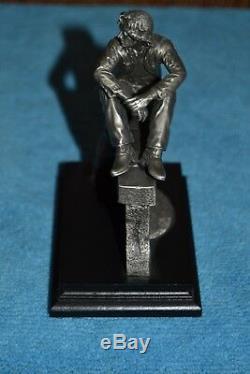 John Lennon 5 Fine Pewter Statue Gartlan Limited Beatles Rare Gun Metal MIB