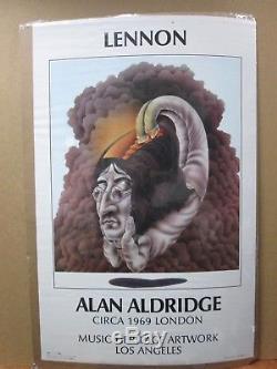 John Lennon Alan Aldridge Circa 1969 London Music Heritage LA Beatles Inv#G1489