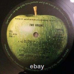 John Lennon Apple Beatles TWO VIRGINS UK 1st pressing 1/A & 1/M