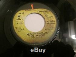 John Lennon Apple Records PROMO Whatever Gets You Through Beatles 45 NM UNPLAYED