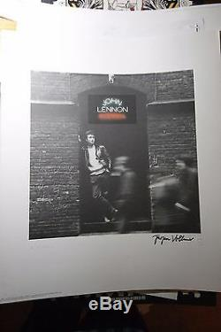 John Lennon Art Print ROCK AND ROLL Hand Signed Yoko Ono AND Jurgen Vollmer