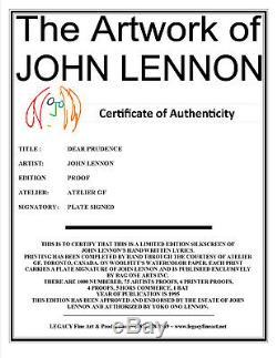 John Lennon Artwork Beatles Lyric Dear Prudence (Limited Edition Print)