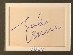 John Lennon Autograph Signed Cut with Photo THE BEATLES JSA #BB90284 Graded 8 Rare