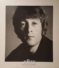John Lennon Avedon Signed Poster Photogragh Large 1967 Photo Signed 27x31