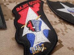 John Lennon Beatles Army Korea War Jacket Uniform Imjin Scouts Iron On Patch Set
