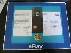 John Lennon Beatles Authentique Cheveu Authentic Hair Certificat Louis Mushro