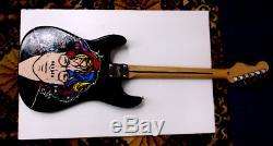 John Lennon Beatles FENDER Electric Guitar Hand Painted WOW