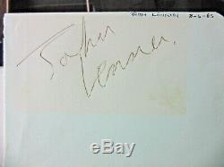 John Lennon-Beatles Very Early Authentic Signed Album Page plus COA Caiazzo