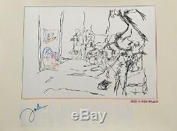 John Lennon Bed In For Peace Ldt Edition Serigraphic Poster 40 X 30 Mint 1989