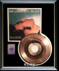 John Lennon Imagine 45 RPM Gold Metalized Record Rare Framed Non Riaa