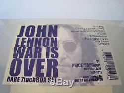 John Lennon Imagine / Happy Christmas UK Vinyl 7 in Japan Box T-Shirts Beatles