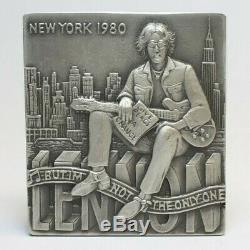 John Lennon Imagine Medal 2005 British Royal Mint 925 Sterling Silver L/e 200