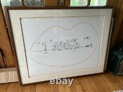 John Lennon Limited Edition Artwork Signed by Yoko Ono Land of Milk & Honey