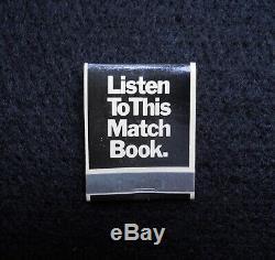 John Lennon Listen To This Matchbook Walls Bridges LP Apple Records 1974 promo