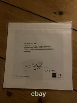 John Lennon Magnum Square Print, The Beatles Photo Signed By Bob Gruen