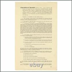 John Lennon & Neil Aspinall 1968 Signed The Beatles Honey Pie Memorandum (UK)