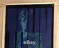 John Lennon Original Vintage Poster Blacklight The Beatles Pin-Up Marsh 1990