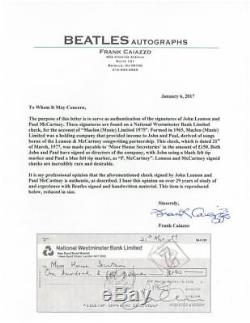John Lennon/Paul McCartney Signed Beatles Maclen (Music) Ltd 1975 Check PSA/DNA
