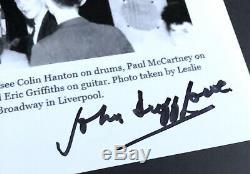 John Lennon Quarrymen Hand Signed Photo RARE The Beatles Paul McCartney