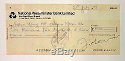 John Lennon RARE Signed Lennon Productions UK Bank Check BAS Beckett The Beatles