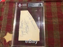 John Lennon RIngo Starr George Harrison Beatles Authentic Autographed Beckett