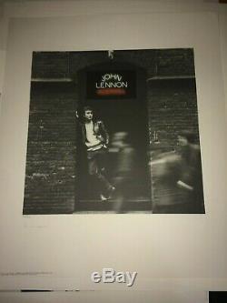 John Lennon Rock and Roll Art Print Lithograph Ltd Ed Hand Signed Yoko Ono SALE